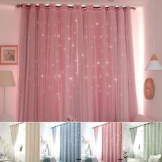 bedroomcurtain, Star, Home Decor, doublelayercurtain