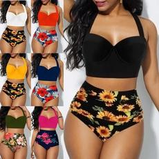 bathing suit, Plus Size, Halter, Summer