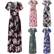 Summer, printeddres, ladies dress, Evening Dress