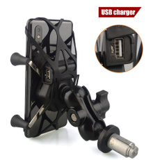 16-20mm Yoke Stem//Fork Stem Mount Base with 1 inch Ball for Motorcycle