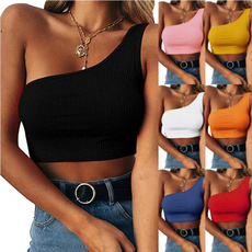 Summer, croptopbutton, Fashion, crop top