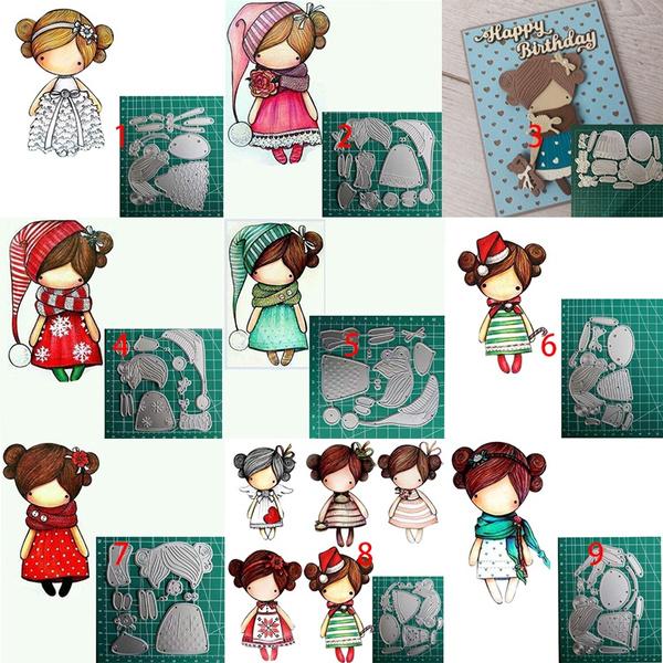 Girl Cutting Dies Fustelle Metalliche Per Scrapbooking Die Cuts For Card Making