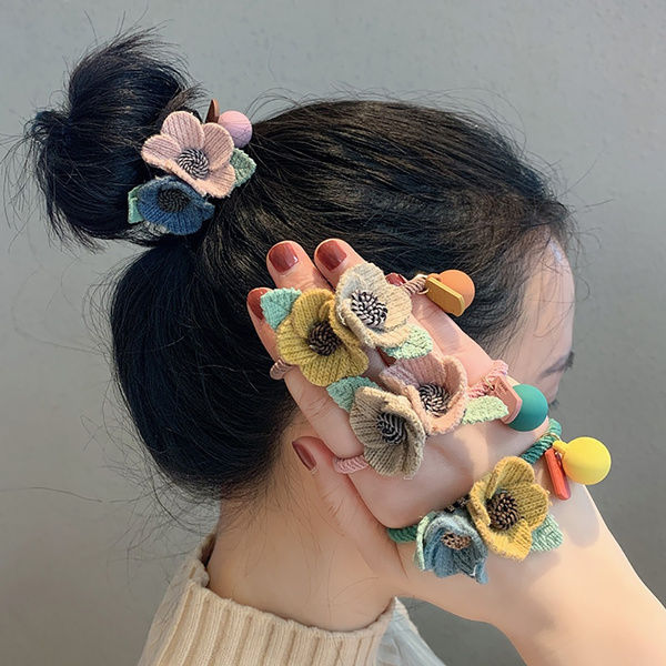 Cute Hair Accessories Wool Girls Elastic Women Scrunchie Headband
