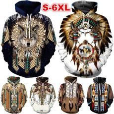 Hip-hop Style, 3D hoodies, Plus Size, Vintage