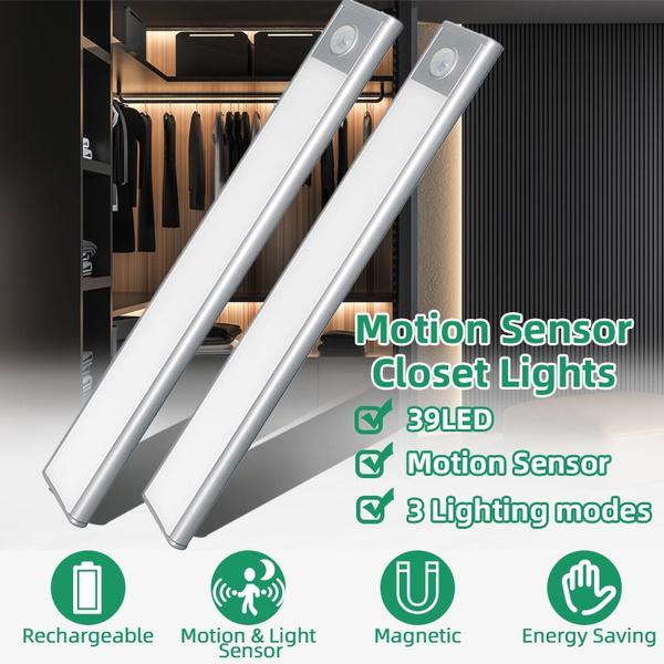 LED USB Rechargeable Closet Light Closet Lamp Wireless Motion Sensor Lighting