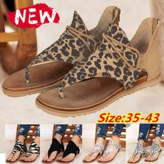 beach shoes, Plus Size, Summer, Leopard
