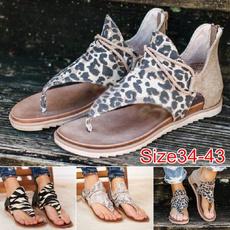 beach shoes, Flip Flops, Sandals, animal print