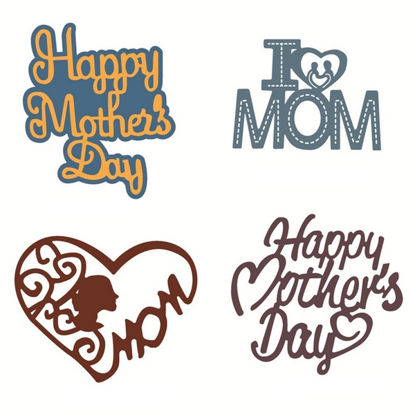 Mother/'s Day Metal Cutting Dies Stencil Scrapbook Paper Cards Craft DIY Die-Cut