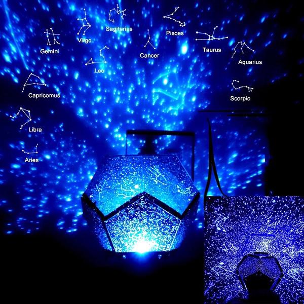Christmas Night Light Romantic 60000 Stars Starry Sky Projector Planetarium Lamp