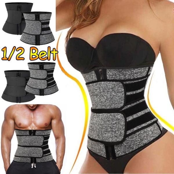 Women Men Fajas Sweat Body Shaper Waist Trainer Cinchers Corset Belt Shapewear