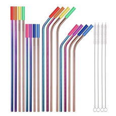 Steel, drinkingstraw, Colorful, Silicone