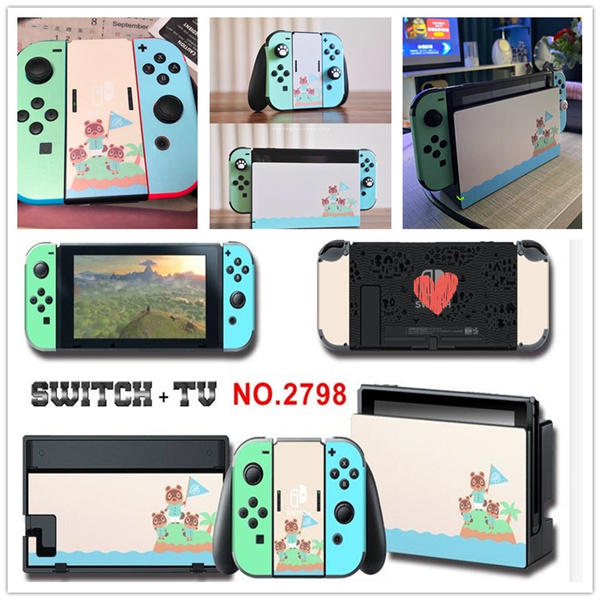 Switch Ns Console Joy Con Dock Skin Kit Animal Crossing New Horizons Vinyl Decal Pack Wish