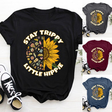 Fashion, hippie, Sunflowers, graphic tee