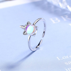 crystal ring, unicornring, Gifts, 925 silver rings