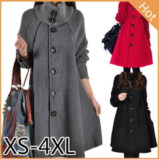 Bat, Plus Size, Invierno, Coat