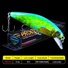 1pc laser minnow fishing lure sinking artificial hard bait 3d eyes 9.8cm 12g  X