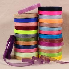 50yard Organza Ribbon For Wrapping Christmas Party Home DIY Gift Tapes Ribbons≈