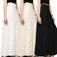 fullskirt, summer skirt, Lace, Summer