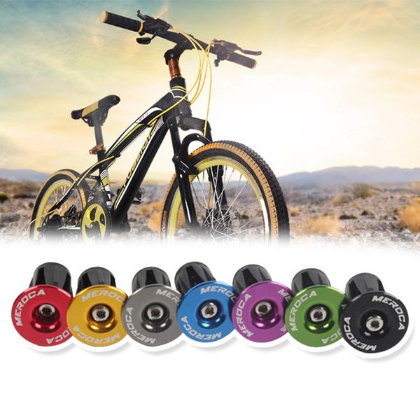 2 Alloy Road Bike MTB Cycling Cycle Handlebar Bar Cap End Grip Handle Plug Cover