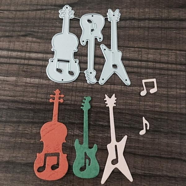 Guitar Musical Metal Cutting Dies Stencils DIY Scrapbooking Decorative Craft