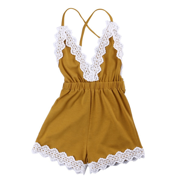 Baby Girls Halter One-Pieces Romper Jumpsuit Sunsuit Outfit Clothes
