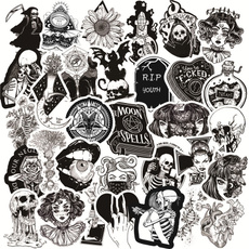 Goth, skullsticker, Stickers, punksticker
