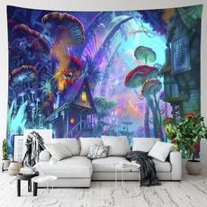 art, hippie, Mushroom, hangingtapestry