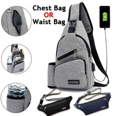 Outdoor, Capacity, usb, Casual bag