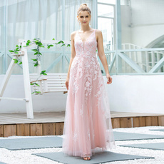 pink, Deep V-Neck, sleeveless, Lace