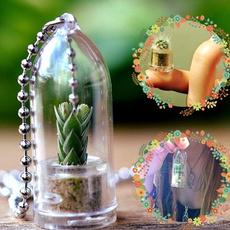 glasspendantnecklace, wearableliveplantpendant, Jewelry, Glass