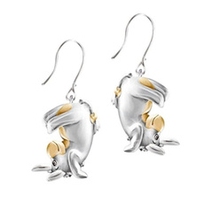 cute, Fashion, gold plated earrings, gold