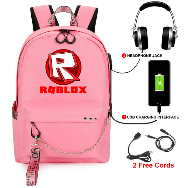 Roblox Backpack Free Roblox Men And Women Schoolbag Usb Charging Schoolbag Oxford Student Backpack Wish