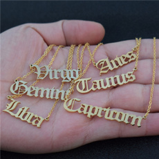 constellationnecklace, virgo, zodiacnecklace, Jewelry