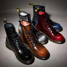 ankle boots, short boots, Leather Boots, Lace