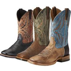 Plus Size, Leather Boots, Spring/Autumn, Cowboy
