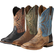 Plus Size, Leather Boots, Spring/Autumn, Cowboy