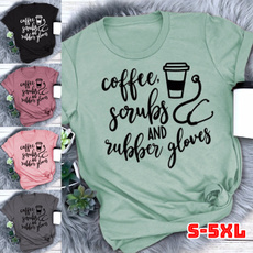 Coffee, Funny T Shirt, letter print, summer t-shirts