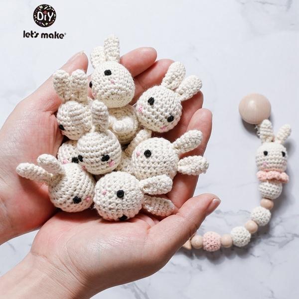 1set Baby Pacifier Clips Chain Bibs Teether Bracelets Crochet ... | 600x600