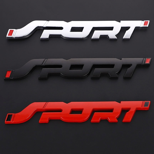 3d Car Stickers Sport Logo Emblem Trunk Badge Decal For Bmw Audi Jeep Ford Fiesta Mondeo Focus Explorer Racing Sport Car Styling Wish