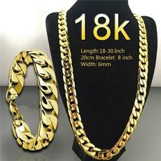Jewelry Set, Chain Necklace, 18k gold, Joyería