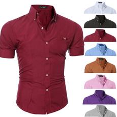 slim fit shirt, slim, Dress Shirt, Sleeve