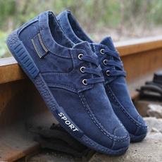 Lace, Denim, Men, Sports Shoes
