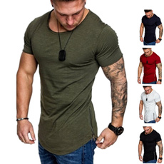 Shorts, Stitching, Slim T-shirt, Sleeve
