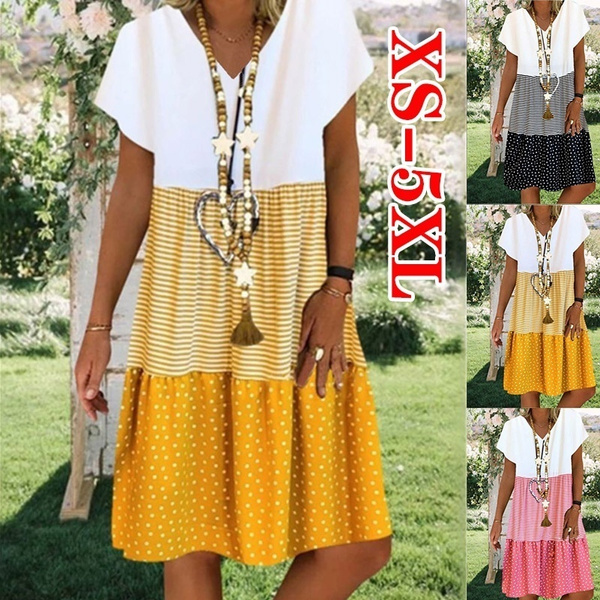 Summer, Plus Size, sleeve dress, Necks