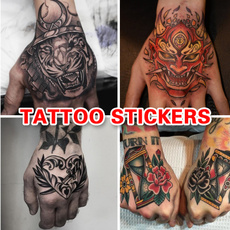 tattoostickersmen, temporarytatto, Flowers, waterprooftattoosticker