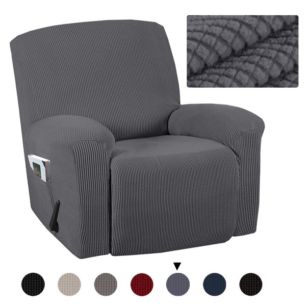 Full Coverage Stretch Recliner Chair Covers Washable Non slip Sofa Slipcovers Seat Cover with Side Pocket | Wish