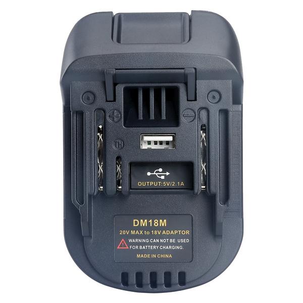 Milwaukee M18 Battery Adapter Convert to Dewalt DCB200 18V//20V Max Li-ion Batter
