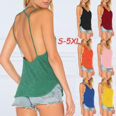 Summer, Plus Size, Tank, Shirt