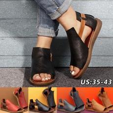 Sandals, leather, flatsandal, Slippers