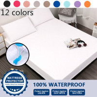 1 x WATERPROOF PROTECTIVE KING SIZE MATTRESS COVER PROTECTOR Wetting JF